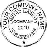 Llc LLC Seal Stamp
